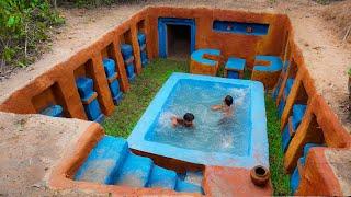 30 Days We Build Millionaire Underground Swimming Pool House