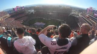 2016 Super Bowl 50 Lady Gaga National Anthem Blue Angles Fly Over HD captured from GoPro Hero+