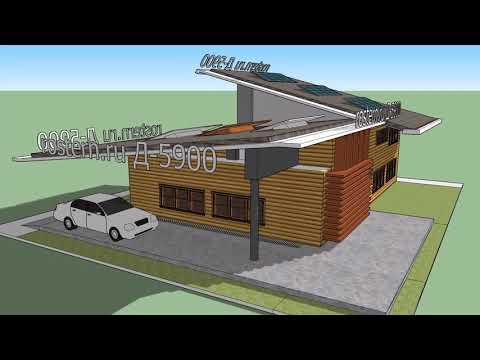 Д-5900 проект деревянного дома #ростерн, #проекты #дома #брус #бревно #фундамент #проектдома