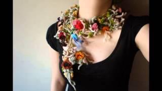 Красивые вязаные украшения. Модная вязаная бижутерия