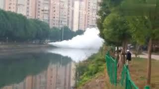 实拍10月31日中国昆山液化气泄露现场