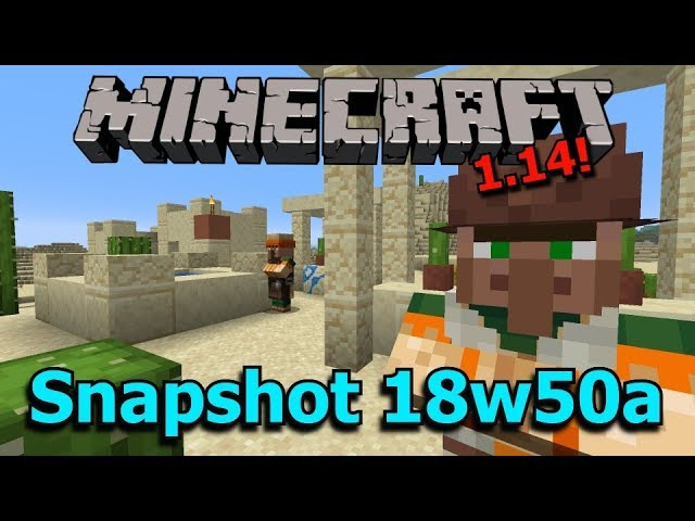 Minecraft 1 14 Snapshot 18w50a New Villages And Villager Skins