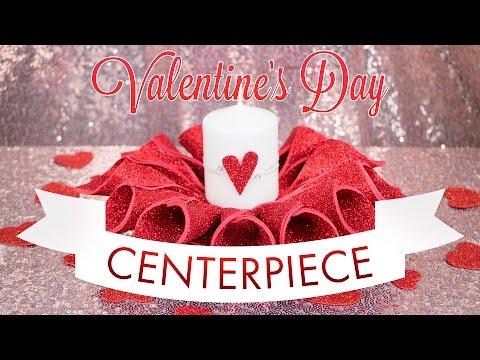 Valentine's Day DIY Candle Centerpiece | BalsaCircle.com