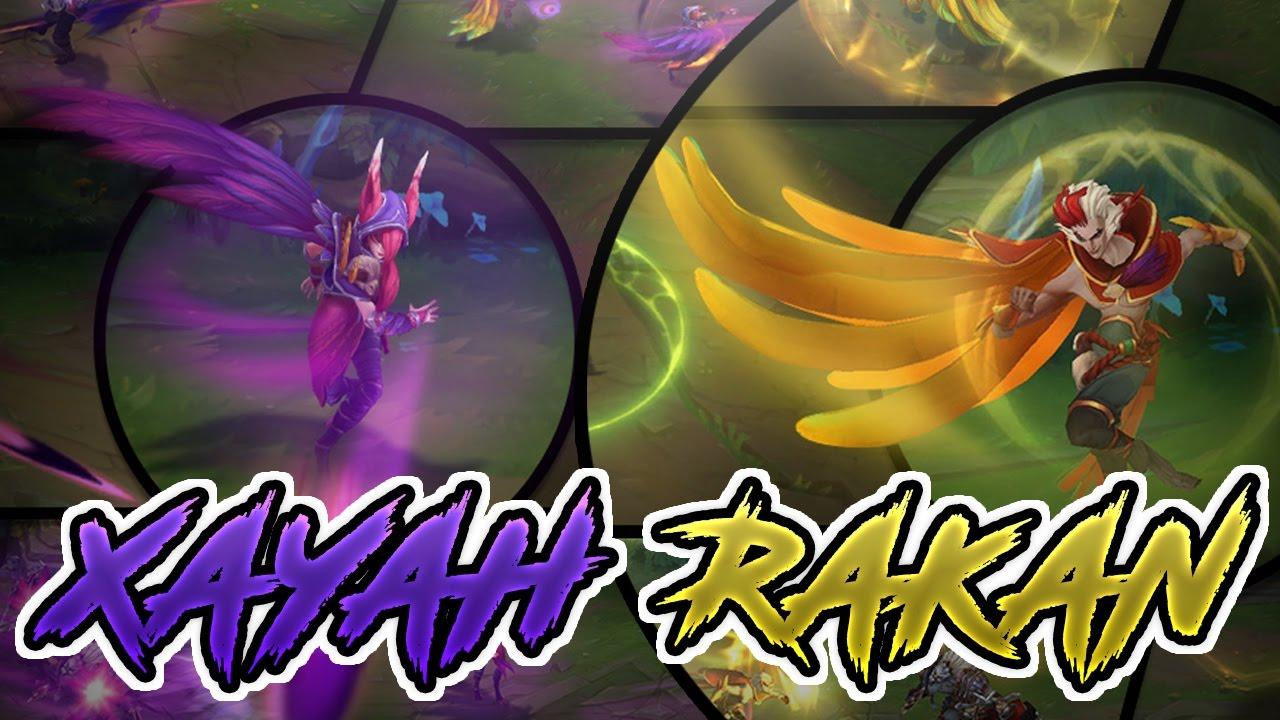 XAYAH AND RAKAN NEW CHAMPIONS ABILITIES REVEALED - League of Legends/LOL