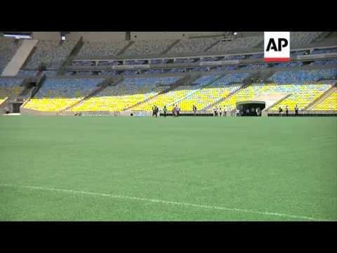 IOC President Bach visits Maracana stadium