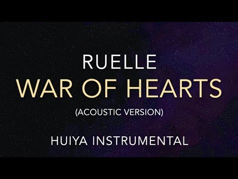 [Instrumental/karaoke] Ruelle - War Of Hearts (Acoustic) [+Lyrics]