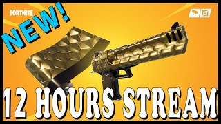 """FORTNITE 12 HOURS STREAM! NEW """"GOLDEN SCALES"""" WRAP in the ITEM SHOP! // Playing With SUBSCRIBERS"""