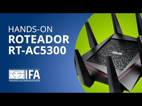 ASUS apresenta roteador mais rápido do mundo, o RT-AC5300 [Hands-on]