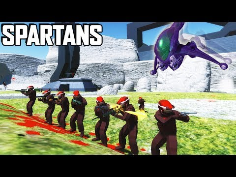 Halo SPARTANS!  NEW Valhalla Map!  (Ravenfield Beta Gameplay - User Maps & Mods)