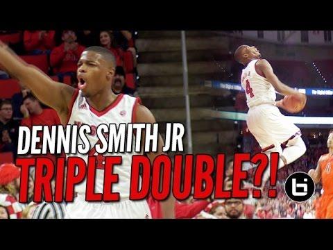 Dennis Smith Jr TRIPLE DOUBLE in ACC Home Opener vs Top 25 VT!