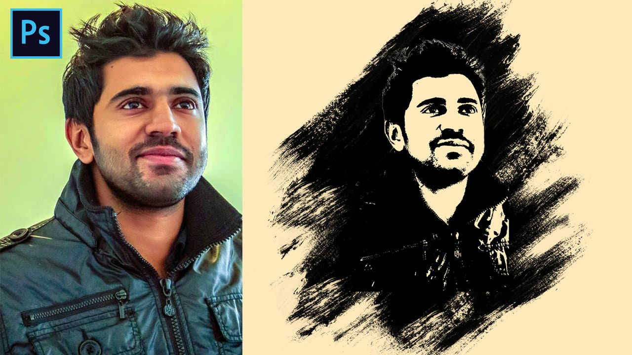 Photoshop portrait brush effects tutorial simple easy photoshop portrait brush effects tutorial simple easy creative effect using brush on face youtube baditri Choice Image