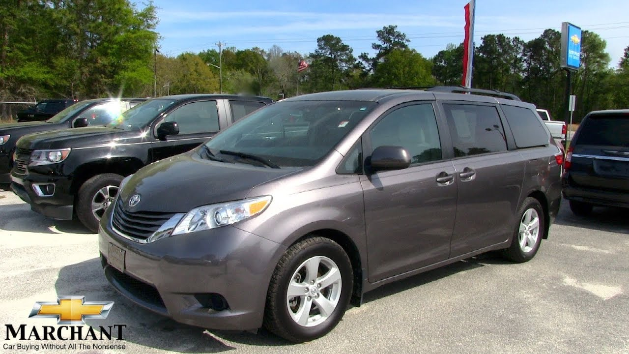 The 2016 Toyota Sienna Le Minivan Review For Marchant Chevy April 2018