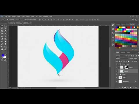 (Khmer Speak) How to draw Logo i Photoshop CC 2017