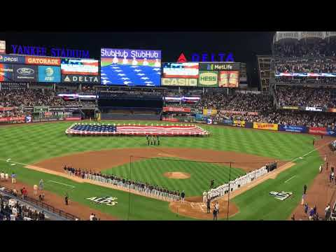 Neil Patrick Harris sings the national anthem before ALDS Game 3