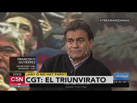 C5N - El Destape: Programa 23/08/2016. CGT: El triunvirato. Habla Francisco Gutiérrez