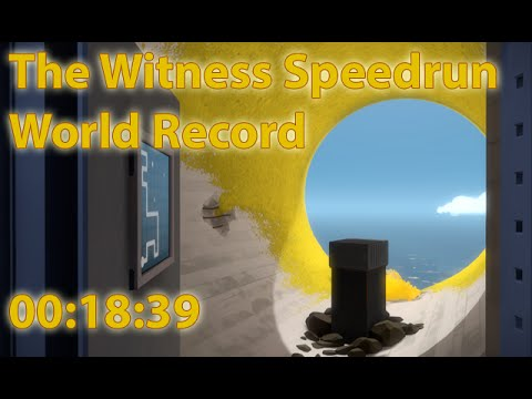 Speedrun The Witness any% world record 0:18:39
