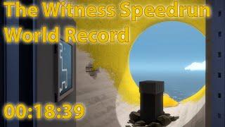 Speedrun The Witness any% world record 0:18:39