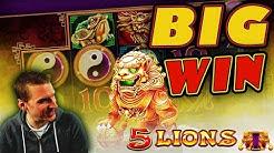 BIG WIN on 5 Lions Slot - £2.50 Bet