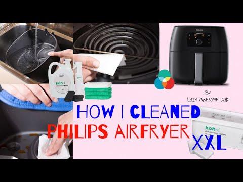 How I cleaned my Philips Airfryer XXL Avance in the dishwasher + toxic & fume free EkoWorx KOH