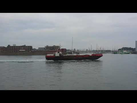 Split Two hopper barge at Portsmouth