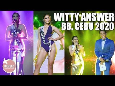 MISS CORDOVA WITTY & FUNNY ANSWER, BINIBINING CEBU 2020 QUESTION AND ANSWER | BB. CEBU 2020 from YouTube · Duration:  4 minutes 12 seconds