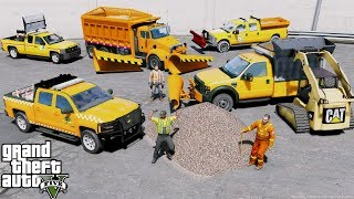 GTA 5 Real Life Mod #100 Department of Transportation Plow Truck Fleet Getting Ready For Snow Storm