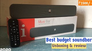 Best budget sounbar in 2020 iball musi bar unboxing amp full review Sound Battery Price
