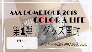 【AAA】CAL 第1弾 グッズ開封 etc...  AAA DOME TOUR 2018 COLOR A LIFE