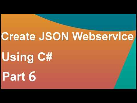 create json web service using c# asp.net part6 - Configuring IIS http handlers on hosted website