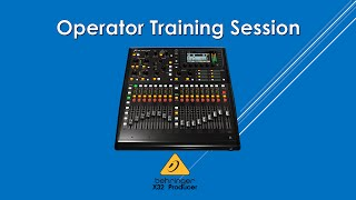 X32 Producer Training