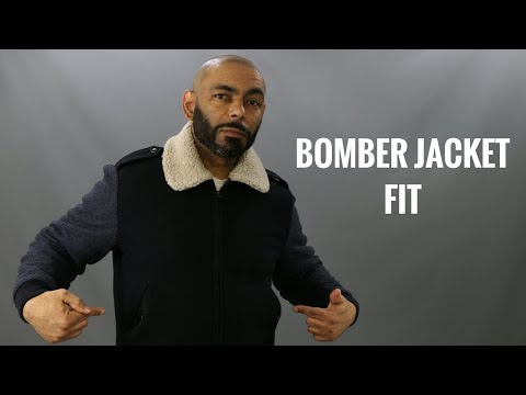 How A Bomber Jacket Should Fit/How To Have The Right Fit On A Men's Bomber Jacket