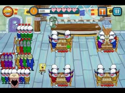 SpongeBob Diner Dash-Krusty Krab Walkthrough EndLess Shift