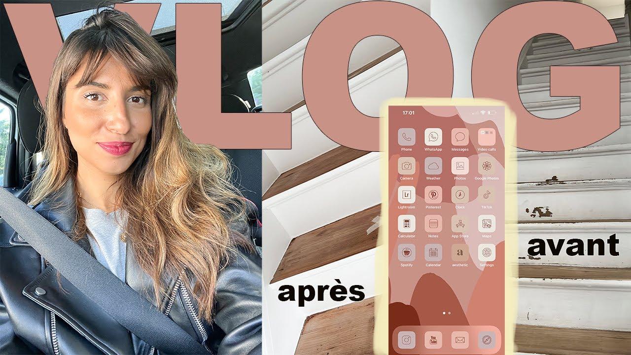 Download VLOG   TRAVAUX ESCALIER, PERSONNALISATION IPHONE ET COURSES DE LA SEMAINE   VLOG 161   ROSEANDMUSC