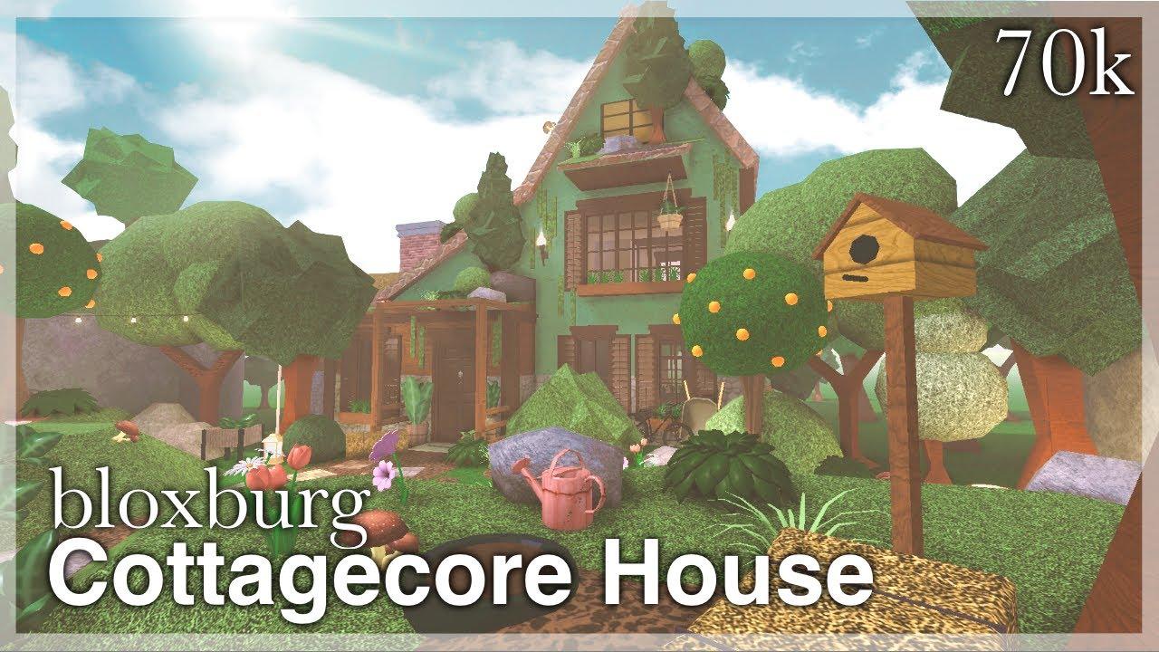 Roblox Bloxburg Small Autumn Tree House 54k Bloxburg Cottagecore House Speedbuild Exterior Youtube