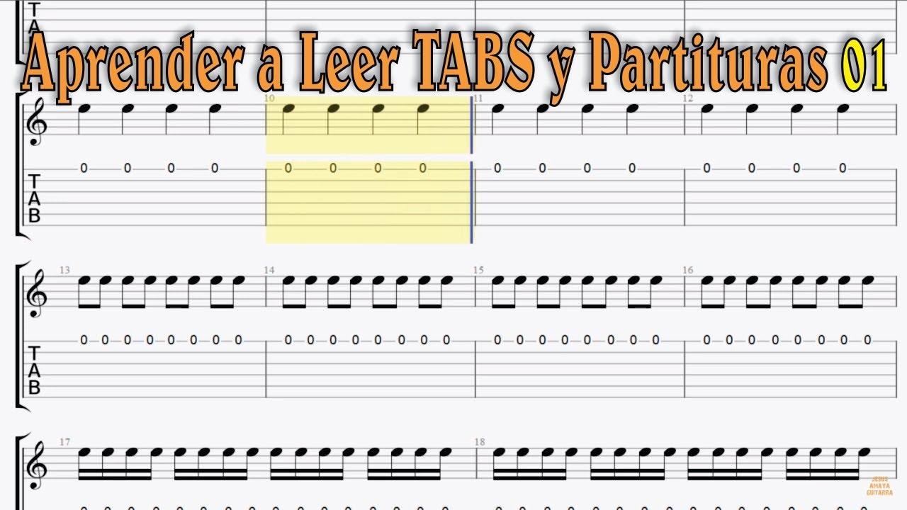 Aprender a Leer Tablaturas TABS y Partituras - Ejercicio