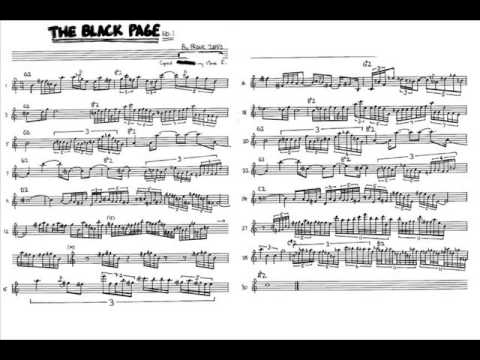 the black page part one by frank zappa with metronome and music transcribed