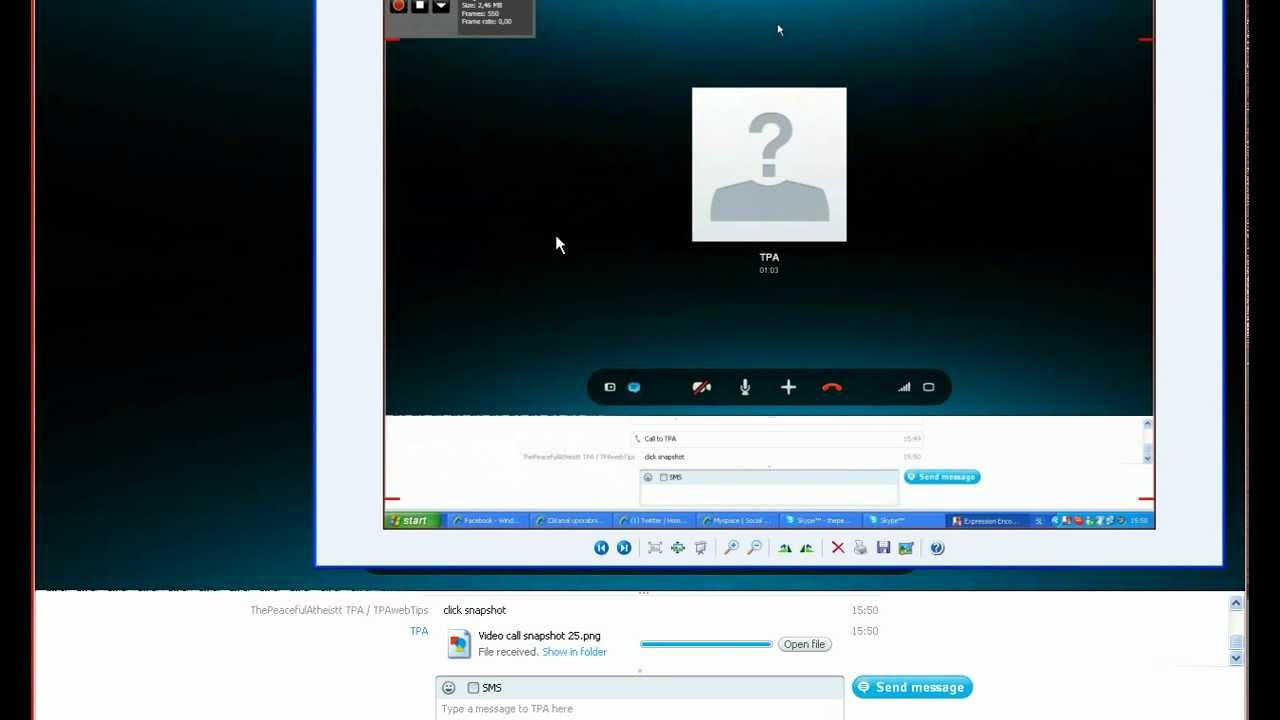 How to take a screenshot/a photo of your screen with Skype ...