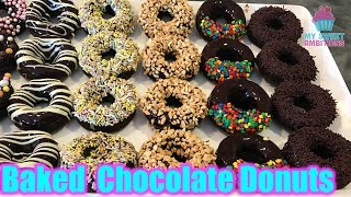 Baked Chocolate Donuts - mysweetambitions