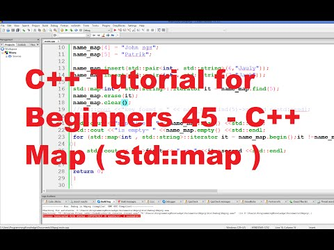 C++ Tutorial for Beginners 45 - C++ Map - YouTube on cad map, hiv/aids map, spl map, bph map, eap map, sexually transmitted disease map, communicable disease map, tick borne disease map, language spoken map, vision map, aoa map, syphilis map, cincinnati police district 5 map, herpes map, ecv map, bcps map, uti map, arkansa district number map, show map, vaccine preventable diseases map,
