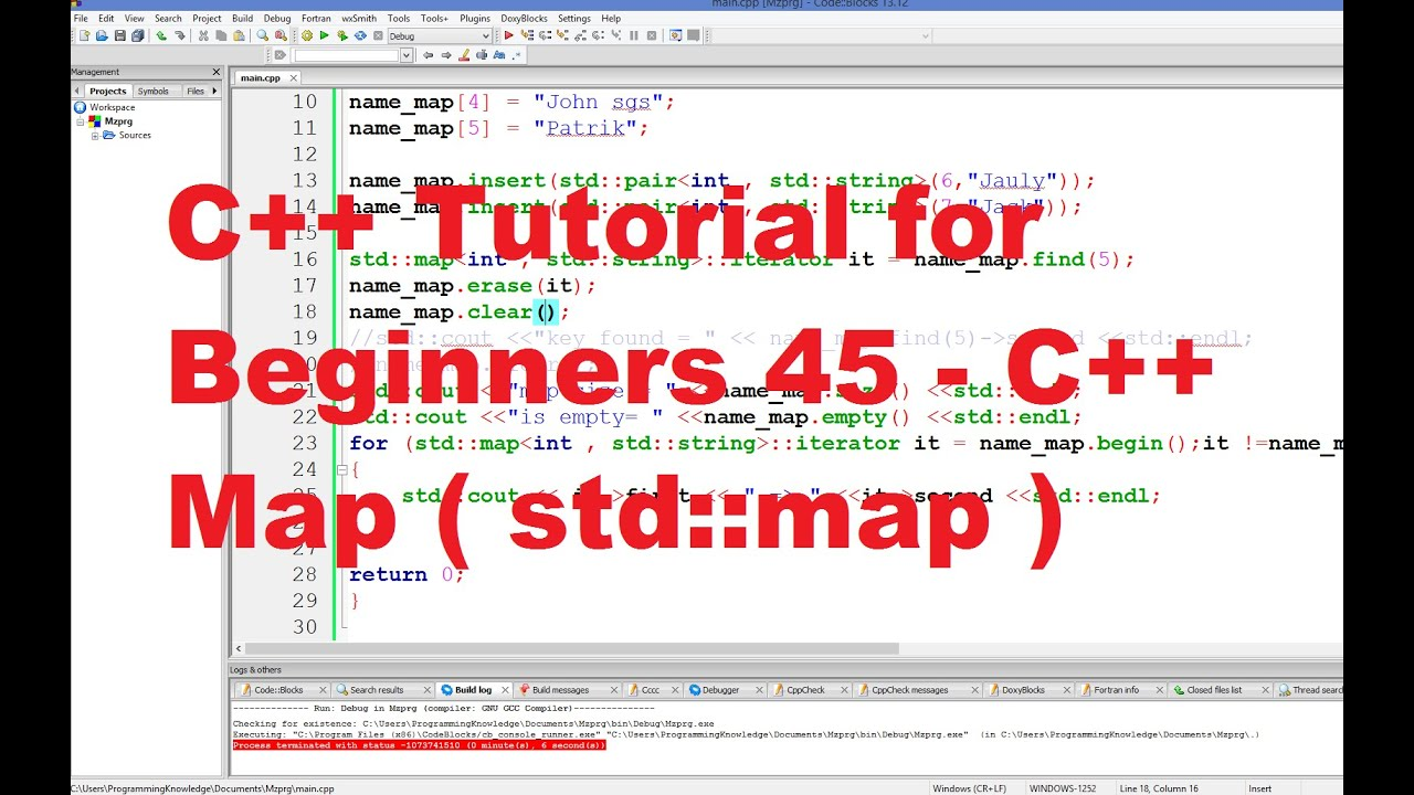 C++ Tutorial for Beginners 45   C++ Map   YouTube