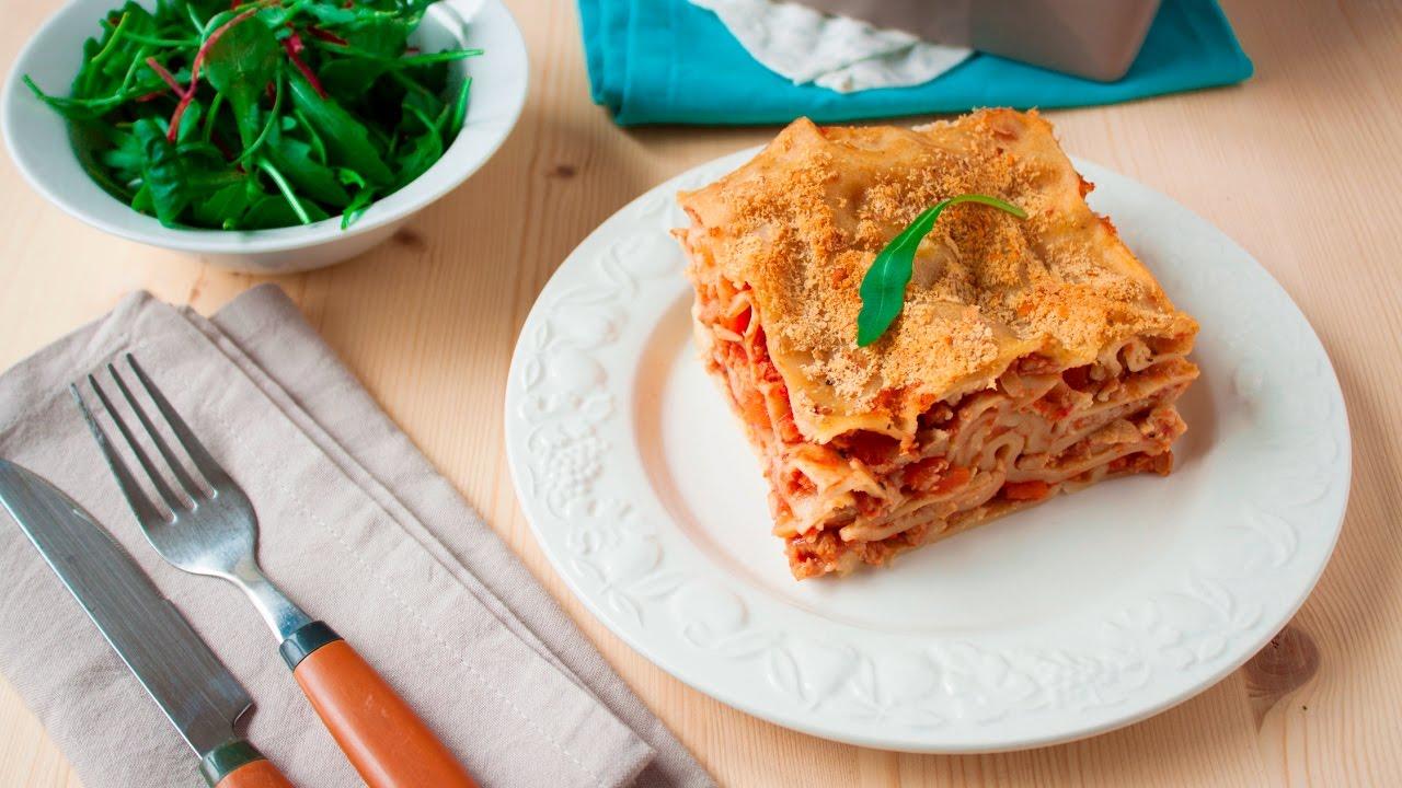 recette de lasagnes la bolognaise sans viande youtube. Black Bedroom Furniture Sets. Home Design Ideas
