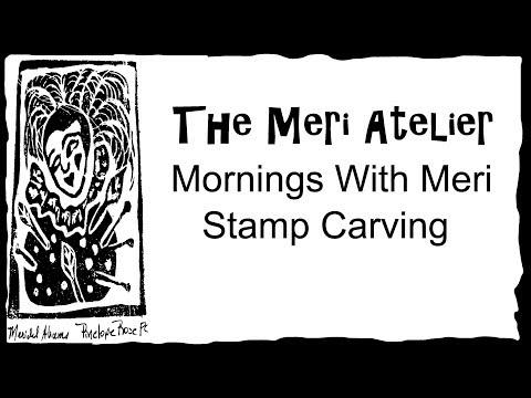 Stamp Carving Art Journal - Corner Motif 1 #mymerimornings