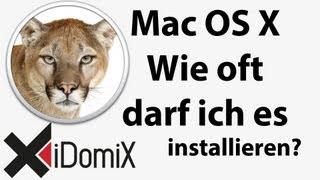 Auf wie vielen Macs darf ich OS X installieren?  Wie oft darf ich OS X installieren?