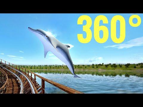 360° VR Longest Wooden Rollercoaster 360 도 롤러코스터 ジェットコースター 3D POV Simulator montaña rusa