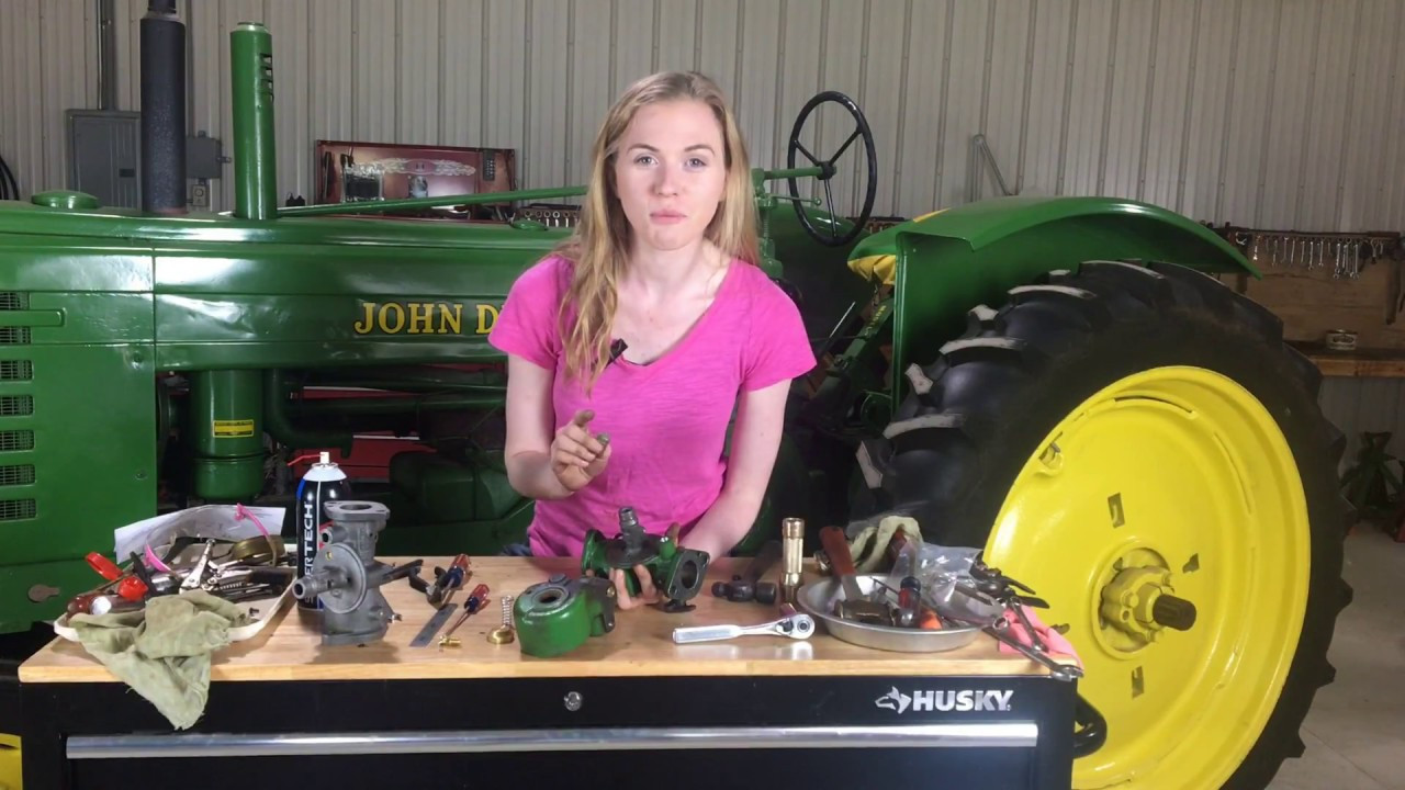 john deere 2 cylinder carburetor rebuild easy step by step instructions [ 1280 x 720 Pixel ]