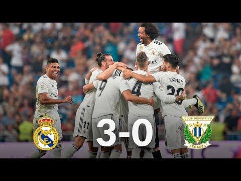 Real Madrid vs Leganes 3-0 09/01/19 ● Match Statistic
