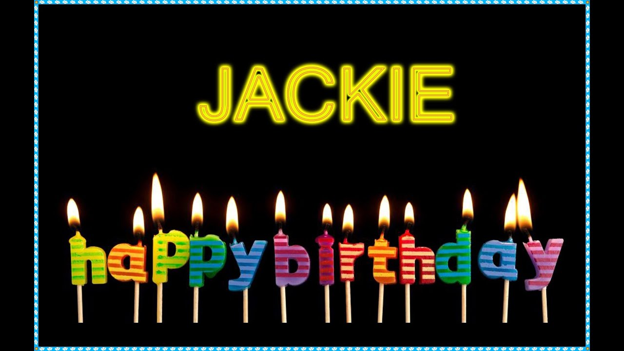 Happy Birthday Jacqueline Cake