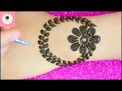 смотрите сегодня Simple Stylish Wrist Tattoo Mehndi Design
