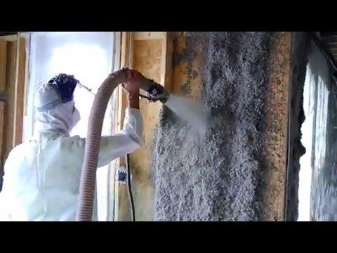 Cellulose wall spray insulation