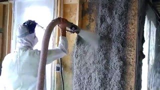 Cellulose wall spray insulation